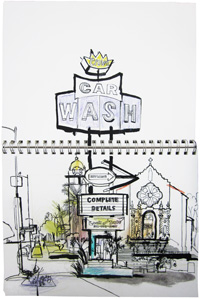 thumbnail lucinda rogers drawing los angeles car wash detail
