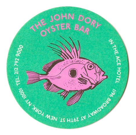 lucinda rogers illustration new york restaurant logo john dory oyster bar