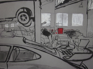 thumbnail lucinda rogers drawing car repair london