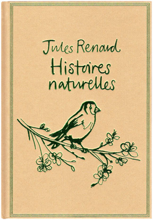 lucinda rogers book cover illustration histoires naturelles jules renard bird branch flowers
