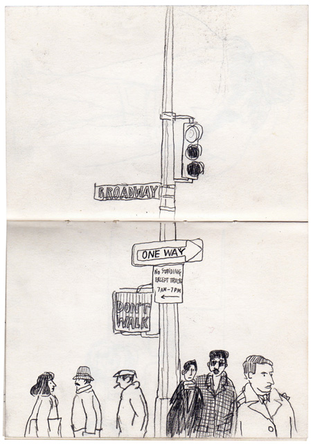 lucinda rogers pencil drawing sketchbook new york city